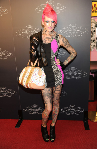 Model Jeffree Star arrives at Kat Von D's Wonderland Gallery Opening on