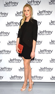 Ireland Baldwin chose a simple little black dress to wear to the Fashion Care Celebration in NYC.