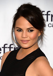 Chrissy Teigen's nude lip only added to the star's natural glow.