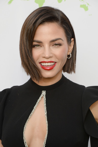 Jenna Dewan-Tatum Graduated Bob [hair,face,lip,hairstyle,eyebrow,beauty,skin,chin,cheek,forehead,annual environmental media awards,montage beverly hills,california,jenna dewan]