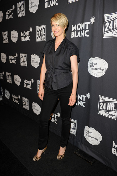 Jenna Elfman Fitted Blouse