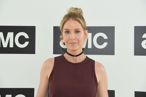 Jenna Elfman Loose Bun [hair,face,shoulder,hairstyle,beauty,blond,carpet,chin,neck,fashion,jenna elfman,amc summit,new york city,amc summit at public hotel]