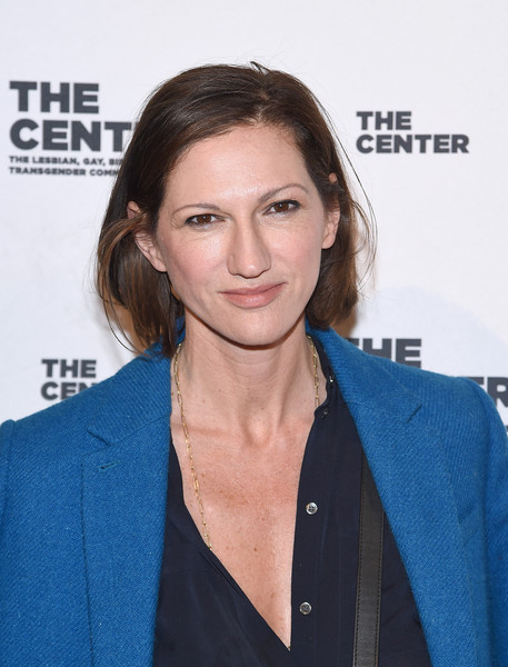 Jenna Lyons Bob [hair,face,premiere,hairstyle,white-collar worker,brown hair,long hair,outerwear,electric blue,carpet,cipriani wall street,new york city,center dinner,jenna lyons]