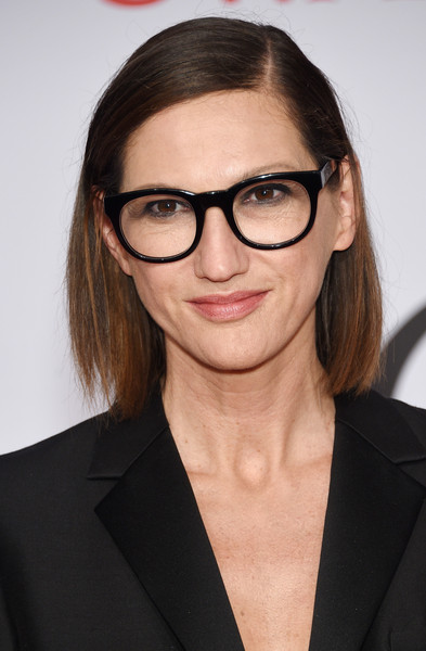 Jenna Lyons Bob [eyewear,hair,glasses,hairstyle,eyebrow,vision care,beauty,lip,sunglasses,material property,alice tully hall,new york city,lincoln center,cfda fashion awards,inside arrivals,jenna lyons]