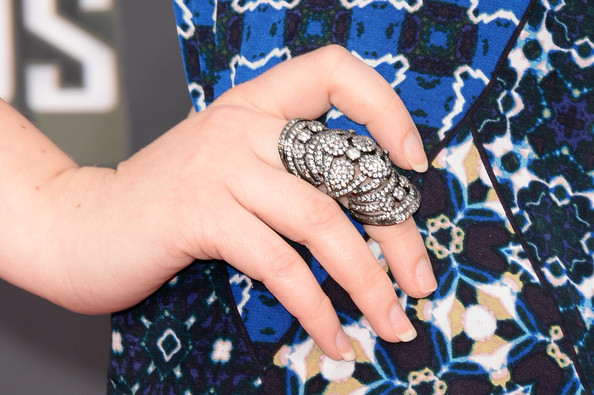 Jennette McCurdy Statement Ring [nail,finger,hand,ring,design,fashion accessory,jewellery,pattern,wrist,electric blue,arrivals,jennette mccurdy,mtv movie awards,fashion detail,culver city,california,sony pictures studios,2013 mtv movie awards]