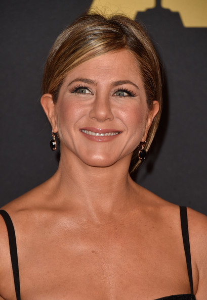 Jennifer Aniston Dangling Gemstone Earrings