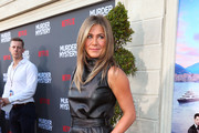 Jennifer Aniston Leather Dress