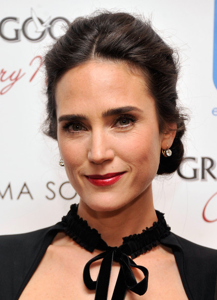 Jennifer Connelly Red Lipstick [grey goose host a screening of ``virginia,eyebrow,beauty,hairstyle,fashion model,chin,lip,forehead,eyelash,black hair,long hair,arrivals,jennifer connelly,film producer,hairstyle,movie database,eyebrow,beauty,cinema society shiseido,screening,jennifer connelly,actor,united states of america,film,model,hotel melisi,the movie database,film producer]