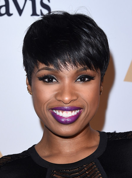 Jennifer Hudson Pixie [hair,face,hairstyle,eyebrow,lip,black hair,chin,forehead,bangs,bob cut,jennifer hudson,martin bandier,arrivals,salute to industry icons,california,los angeles,57th annual grammy awards - pre-grammy gala and salute to industry icons,pre-grammy gala]