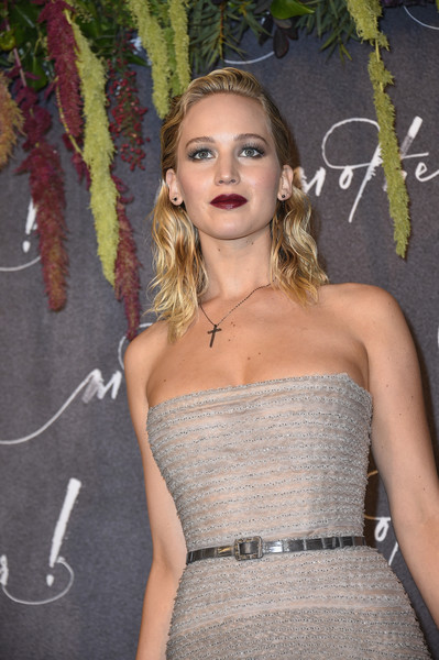 Jennifer Lawrence Metallic Belt