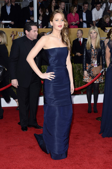 Jennifer Lawrence Strapless Dress
