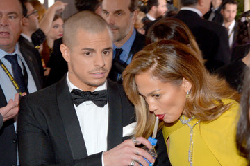 Jennifer Lopez Casper Smart FIJI Water at the 73rd Annual Golden Globe Awards