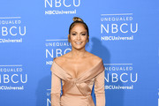 Jennifer Lopez Off-the-Shoulder Dress