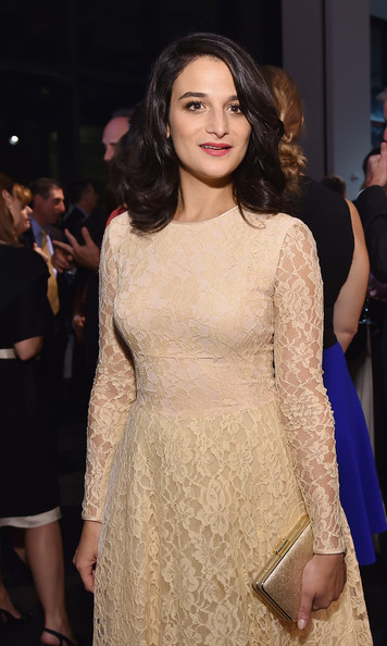 Jenny Slate Metallic Clutch [fashion model,clothing,hair,dress,hairstyle,fashion,cocktail dress,beauty,neck,long hair,love,golden heart awards,new york city,god,jenny slate]