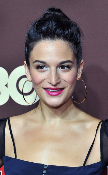 Jenny Slate Berry Lipstick [bored to death,hair,face,eyebrow,hairstyle,lip,beauty,chin,forehead,skin,cheek,jenny slate,new york,jack h. skirball center for the performing arts,hbo,premiere,premiere]