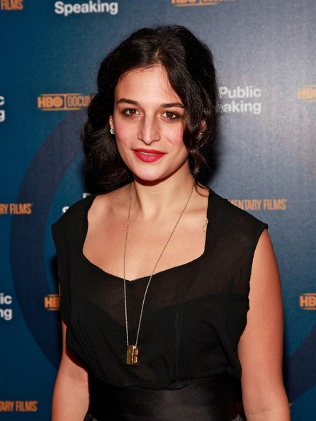 Jenny Slate Gold Pendant [public speaking,hair,hairstyle,shoulder,premiere,little black dress,black hair,dress,long hair,jenny slate,new york,the museum of modern art,premiere,screening]