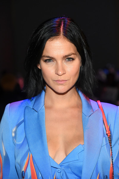Leigh Lezark kept it simple with this short straight cut at the Jeremy Scott fashion show.