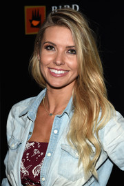 Audrina Patridge sported summer-chic waves during the 'Jeremy Scott: The People's Designer' after-party.