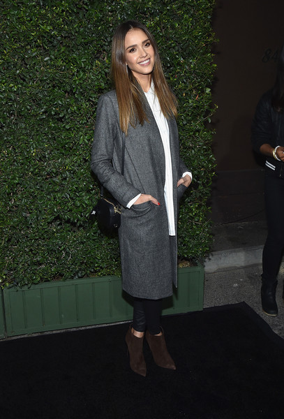 Jessica Alba Ankle Boots [clothing,fashion,outerwear,coat,suit,formal wear,footwear,long hair,blazer,shoe,arrivals,jessica alba,experience,what wear 10th anniversary www10,who what wear 10th anniversary www10 experience,california,los angeles]
