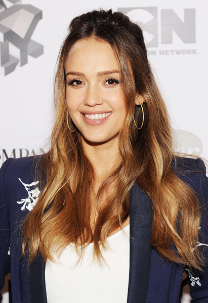 Jessica Alba Half Up Half Down