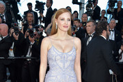 Jessica Chastain Fringed Dress