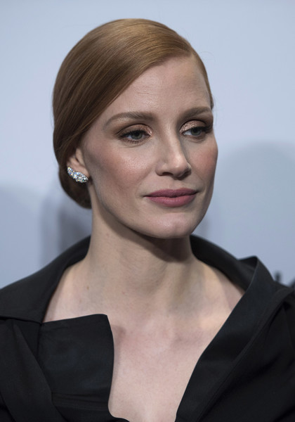 Jessica Chastain Metallic Eyeshadow [the zookeepers wife,hair,face,hairstyle,eyebrow,chin,lip,beauty,blond,cheek,fashion,jessica chastain,united states holocaust memorial museum,washington dc screening]