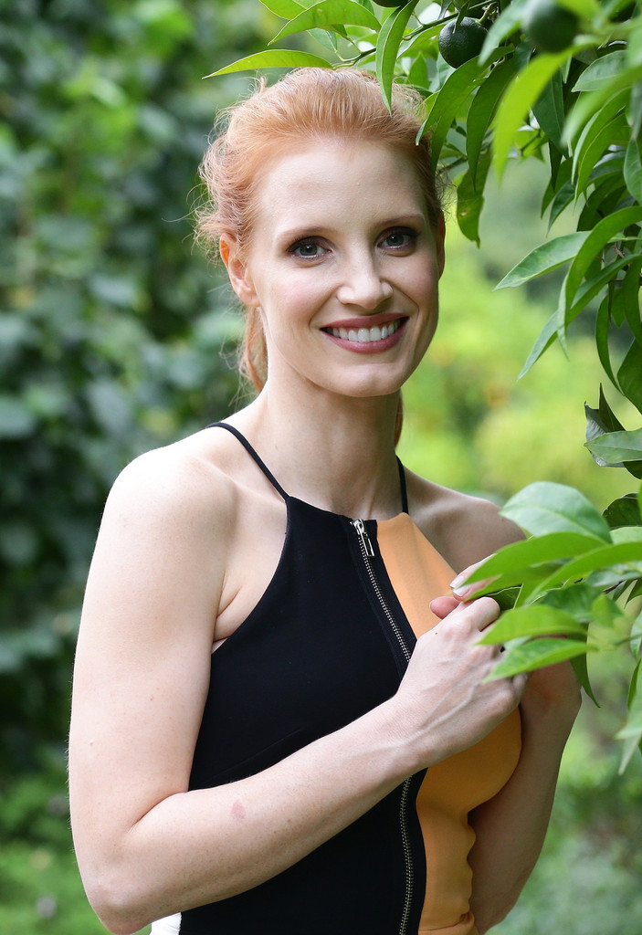Jessica Chastain Hangs Out in Italy