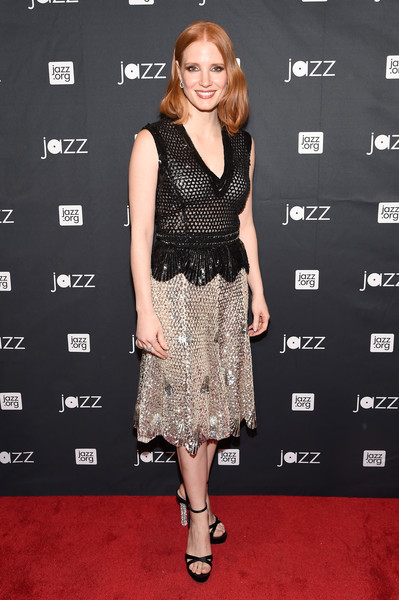 Jessica Chastain Embellished Top