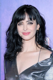 Krysten Ritter framed her face with sweet curls and wispy bangs for the New York premiere of 'Jessica Jones' season 2.