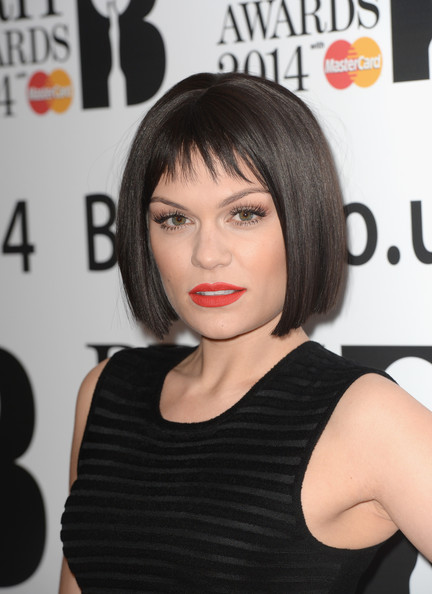 Jessie J Bob [hair,face,hairstyle,black hair,bob cut,shoulder,beauty,lip,chin,bangs,jessie j,nominations,brit awards,london,england,itv studios,brit awards nominations]