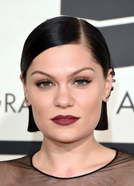Jessie J Side Parted Straight Cut [hair,face,eyebrow,lip,hairstyle,skin,chin,cheek,forehead,beauty,arrivals,jessie j,grammy awards,staples center,los angeles,california,the 57th annual grammy awards]