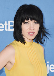 Carly Rae Jepsen rocked a messy-edgy bob with jagged bangs during JetBlue's Live from T5 concert.