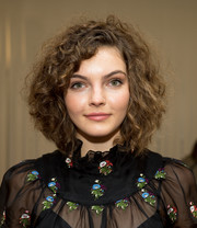 Camren Bicondova wore her signature curled-out bob when she attended the Jill Stuart fashion show.