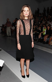 Check out this daring suspender lace number Rose wore to sit front row at Jill Stuart!