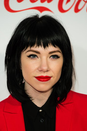 Carly Rae Jepsen sported a stylish lob with choppy bangs at the Jingle Bell Ball.
