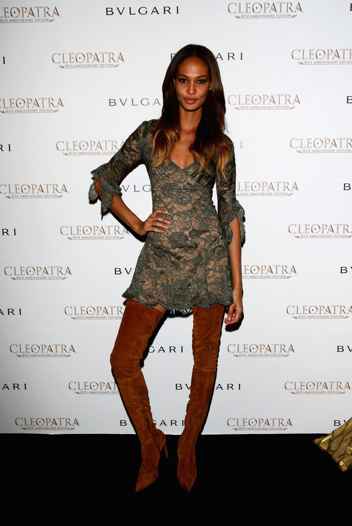 joan smalls over the knee boots shoes lookbook stylebistro
