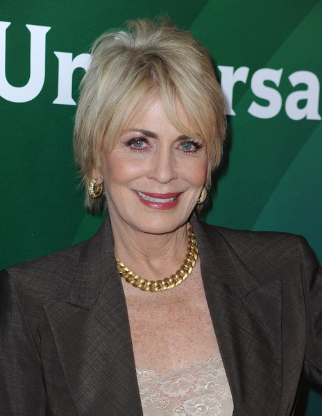 Joanna Cassidy Layered Razor Cut [hair,blond,hairstyle,layered hair,long hair,feathered hair,hair coloring,smile,joanna cassidy,pasadena,california,the langham huntington hotel,nbcuniversal,spa,winter tca tour]