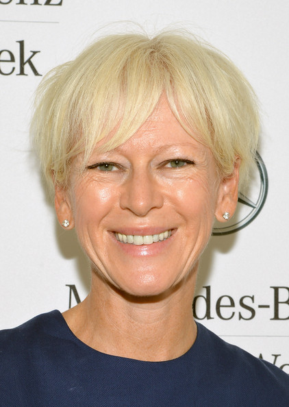 Joanna Coles Messy Cut [mbfw,hair,face,hairstyle,blond,eyebrow,chin,head,forehead,skin,lip,mercedes-benz star lounge,joanna coles,new york city,mercedes-benz fashion week]