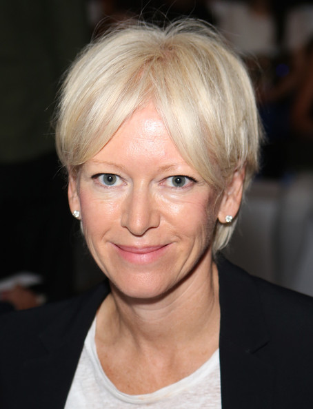 Joanna Coles Short Straight Cut [hair,face,hairstyle,blond,eyebrow,chin,forehead,lip,bob cut,bangs,joanna coles,lacoste - front row,lincoln center,new york city,the theatre,cosmopolitan,mercedes-benz fashion week,fashion show,lacoste spring 2013]