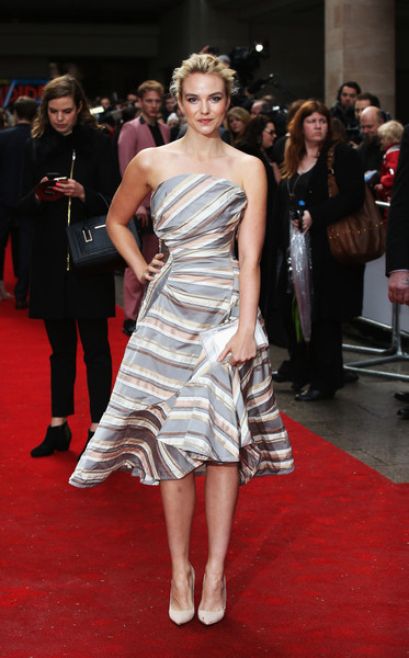 Joanna Vanderham Strapless Dress