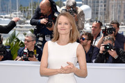 Jodie Foster Form-Fitting Dress