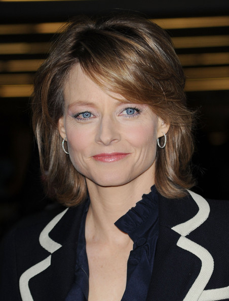 Jodie Foster Layered Razor Cut [hair,face,hairstyle,blond,eyebrow,beauty,chin,lip,bangs,layered hair,arrivals,jodie foster,film independent spirit awards,nokia event deck,california,los angeles,l.a. live,25th film independents spirit awards]