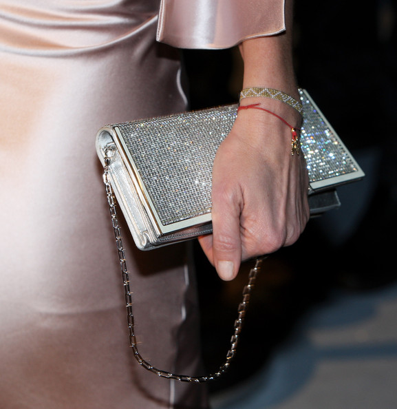 Joely Richardson Metallic Clutch