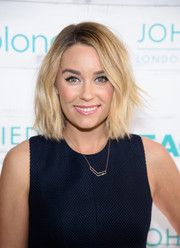 A rose gold necklace provided a simple touch of sparkle to Lauren Conrad's flirty getup.
