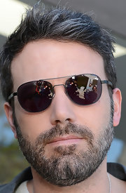 Ben Affleck was read for some sun with these aviator shades.