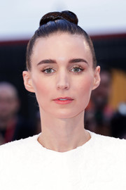 Rooney Mara swept her hair up into a tight top knot for the Venice Film Festival screening of 'Joker.'
