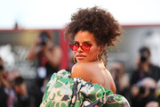 Zazie Beetz looked cool with her pinned-up curls at the Venice Film Festival screening of 'Joker.'