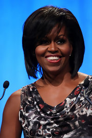 Michelle Obama looked hip at the unveiling of EIF's Service Initiative Plan with this high-volume layered cut.
