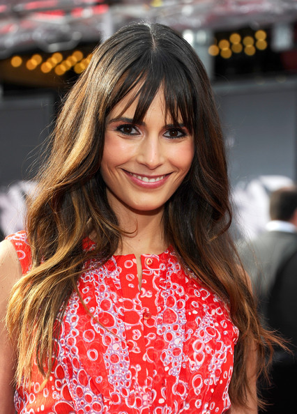 Jordana Brewster Long Straight Cut with Bangs
