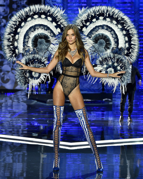 Josephine Skriver Lace Up Boots
